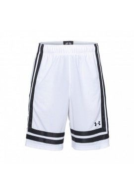 "UA BASELINE 10 IN SHORT 18 ""WHITE"""