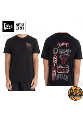NEW ERA CHICAGO BULLS NEON LIGHTS BLACK TEE