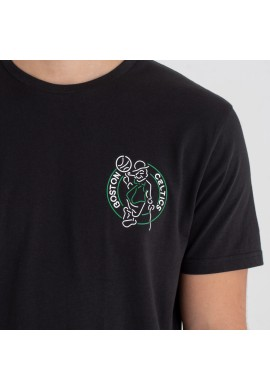 NEW ERA BOSTON CELTICS NEON LIGHTS BLACK TEE