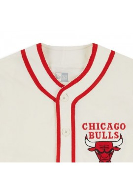 NEW ERA NBA CHICAGO BULLS PIPING BUTTON UP