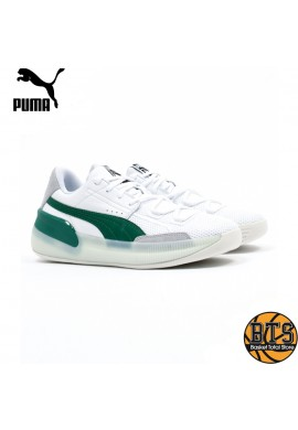 "PUMA Clyde Hardwood ""White-Green Power"""